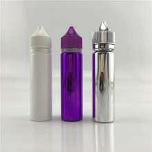 china manufacture 60ml silver color dropper bottle 60ml unicorn bottles