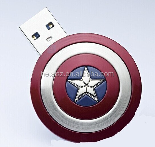Cartoon Captain America usb flash drive usb2.0 pen drive usb flash driver memory flash stick pendriver u disk