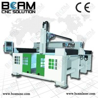 4 axis 3D best wood carving machine price wood cnc router with rotary and flat working table