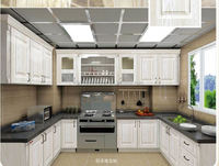 Flat pack kitchen cabinet stainless steel countertops mirrored furniture