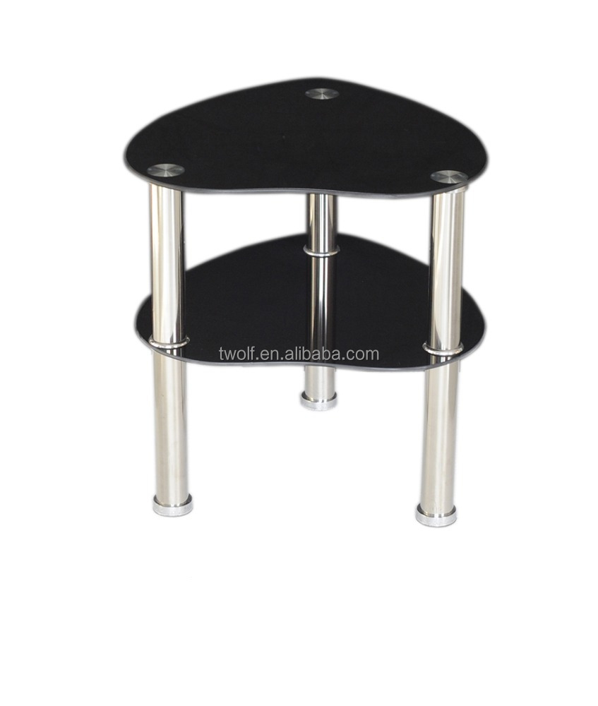SUPER PRACTICAL! FANCY DESIGN HEART-SHAPED GLASS OFFICE DESK SIDE TABLE/ COFFEE TABLE ZS010