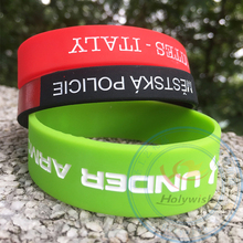 Custom silk screen printed silicone wristband for entrance