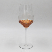 Wholesale Eco-Friendly Copper Foil Glass Material Custom White Wine Glass Goblet
