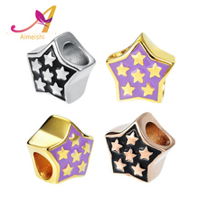 Wholesale fashion jewelry findings DIY making Pentagon charm star hold beads