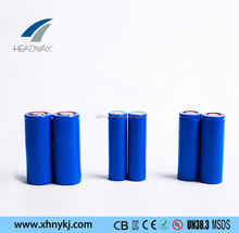 Headway rechargeable lithium ion NMC battery 18500 3.7v 1400mah cell for machine