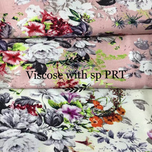 viscose with spandex print