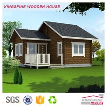 Prefab Small Log House with Terrace Wooden Cabin Manufactory price KPL-003