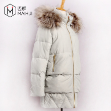 Fashion Design Padded Coats Raccoon Fur Collar Clothing New Design Quilted Jackets