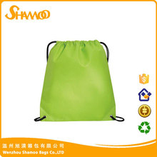 Recycle reusable foldable customized drawstring backpack bags