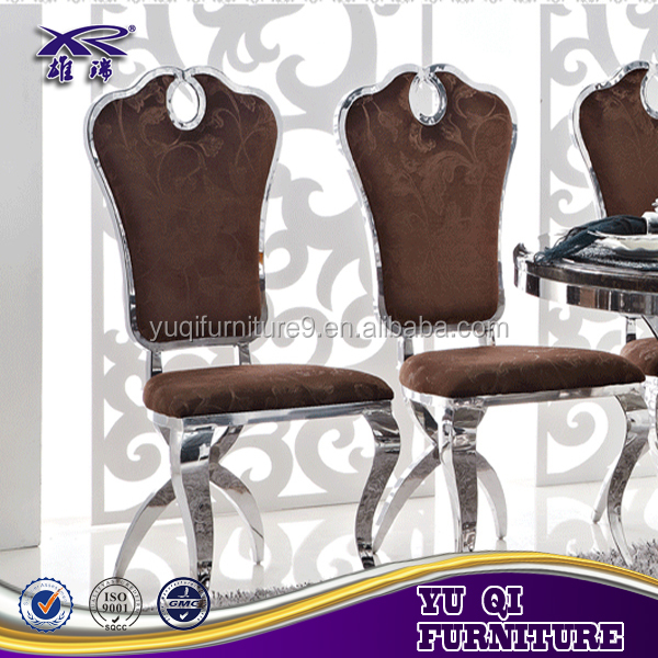 banquet golden O back stainless steel chair for weddings in foshan