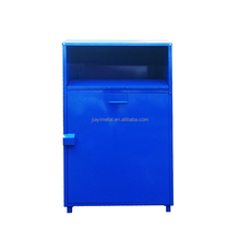 Assemble huge capacity used clothes collection bin for outside