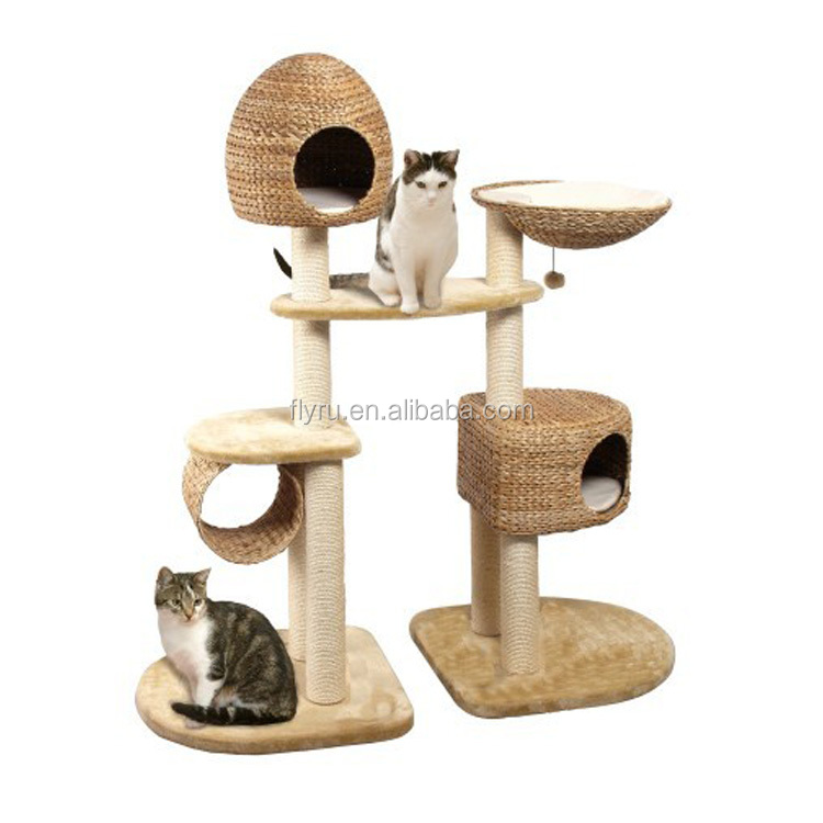 Alibaba China Manufacture Pet Products Wholesale Cat Tree Scratching Post