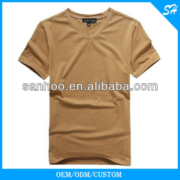 Wholesale Men's Big V Neck Tshirt In Mixed Size