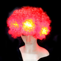 2015 Hot Sale Cheap 100% Polyester fiber led hair afro wig for party
