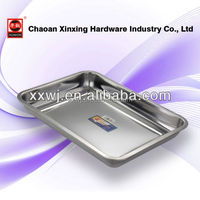 kitchenware wholesale Stainless steel square tray