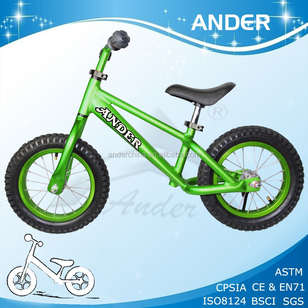 New Ander Aluminum Light Weight Balance Bicycle With Colorful Tyre