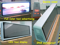 China good price P5 full color 3G/Wifi advertising taxi roof top led moving sign display