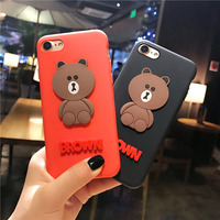 Wholesale Cartoon Silicone Rubber Shockproof phone case For iPhone 8 8plus 7 7plus 6s 6plus