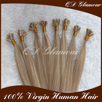 2016 Chinese Factory Keratin Human Hair Wholesale Flat Tip Hair Extensions