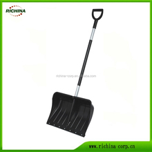 PP Snow Shovel/Pusher, Steel handle with D grip, High quality snow shovel
