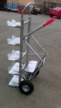 HT001 Foldable Aluminum bottled water tray trolley Hand trolley