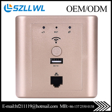 InWall Wifi Router with 5V/1A USB port wireless access point for Hotel/home/restuarant