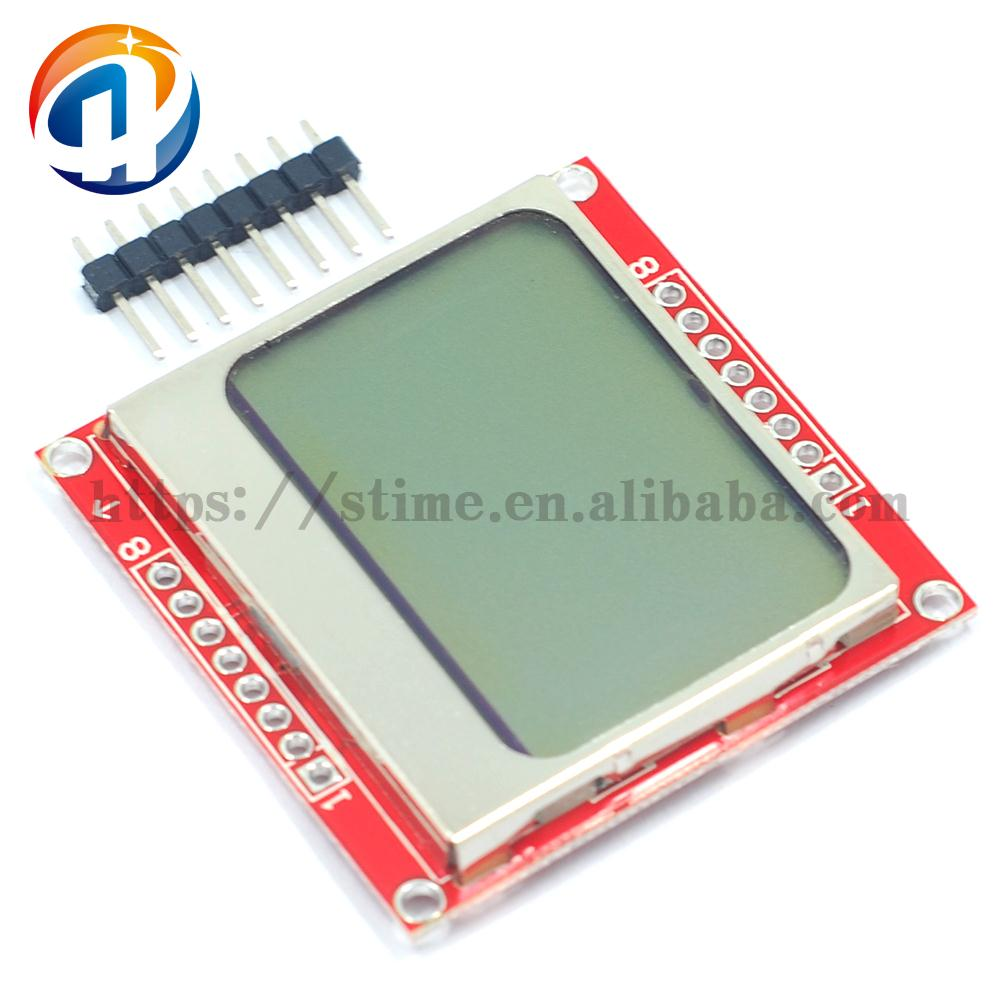 84X48 Nokia 5110 LCD Module with Backlight Adapter PCB