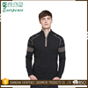 Wholesale Black Quarter Zip Woolen Sweater