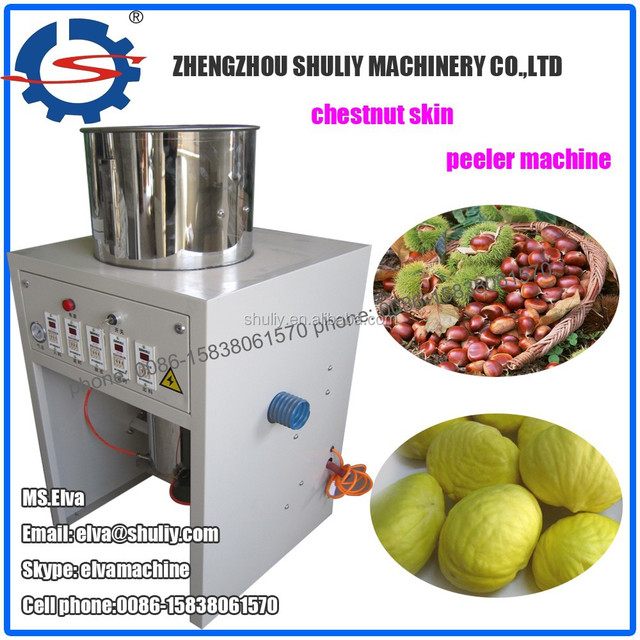 High efficient chestnuts peeling machine | chestnut skin peeling machine