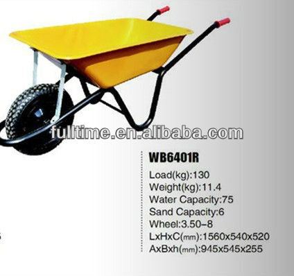 Yellow color wb6410r wheel barrow