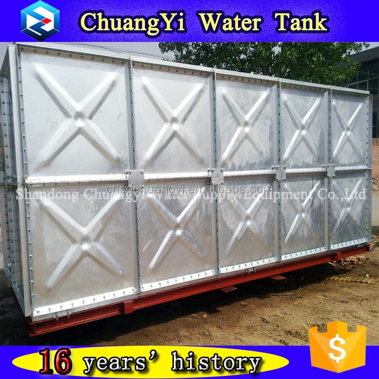Hot selling galvanizing combined water vessel,galvanizing panel water container,galvazied water storage tank