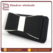 Fashion wedding design wrinkles bowknot clutch bags india wholesale