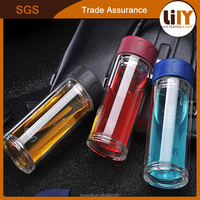 330ml Ultra Clear Spill-proof Strong Double-wall Borrosilicate Glass Tea with Strainer