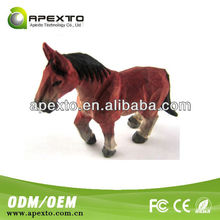 New product wood horse shaped eco-friendly wholesale novelty usb flash disk/usb disk
