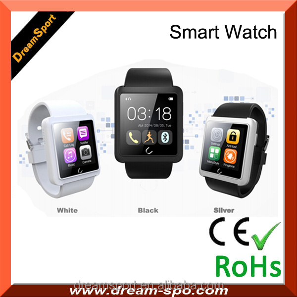 2015 Upgrade version <strong>U10</strong> L new android 4.4 bluetooth smart watch phone gv09