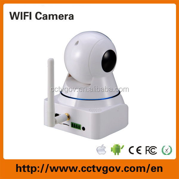 Wireless 360 degree wide angle IP surveillance camera for indoor use