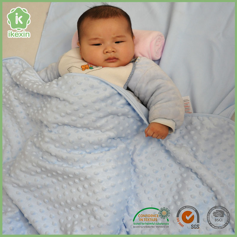 Polyester Plain Color Soft Plush Indian Baby Blankets