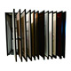 Free standing polish sliding metal wooden door display rack