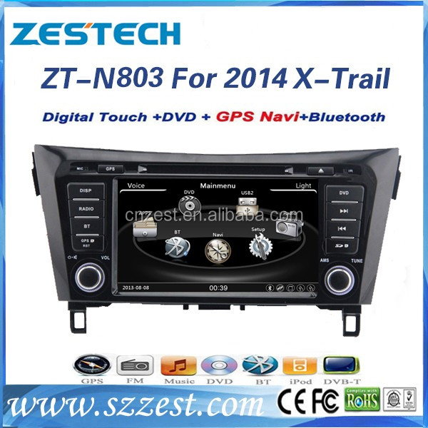 double din Auto radio for Nissan X-trail Rogue 2014 2015 car dvd gps navigation system with DVD Radio bluetooth