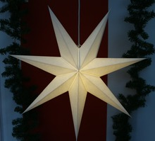 new design Paper Star Christmas Ornament Hanging Star for Tree Decoration for party hall decor
