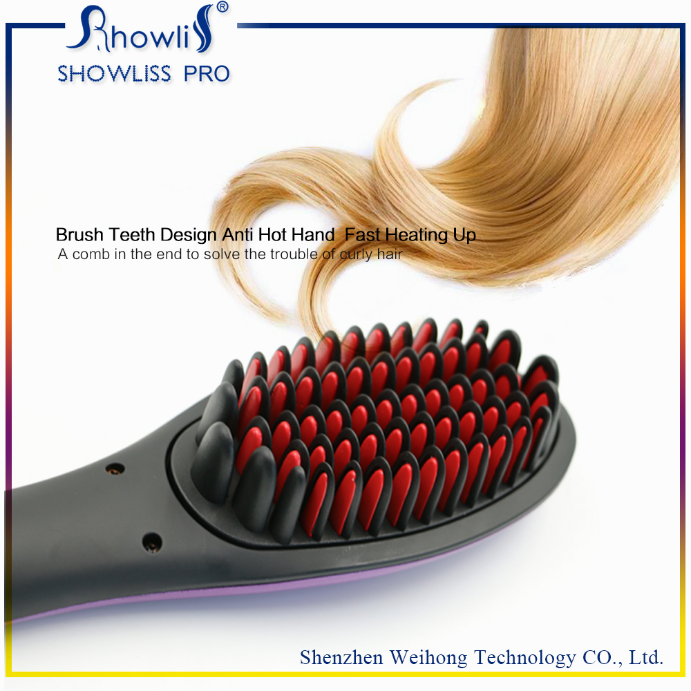 Maysky Hair Straightener Brush Instant Magic Silky Straight Hair Styling Electronic Detangling Comb