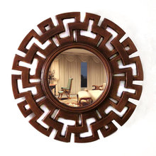 China wholesale hot sale round mirror vintage home decor decorative mirror chinese style furniture