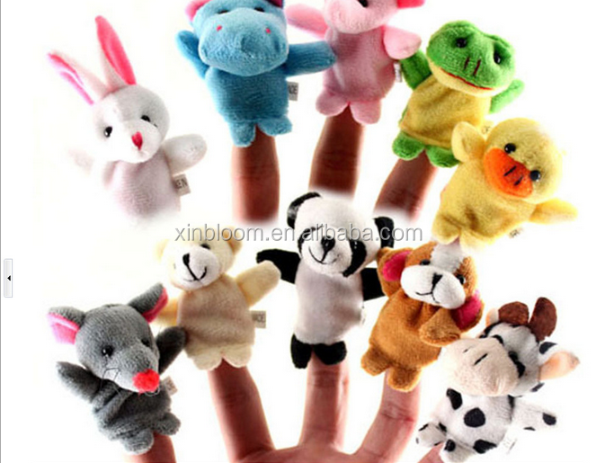 kid's small present hot-selling promotional zodiac plush animal finger puppet toy doll