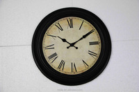 "15"" retro plastic classical wall Clock for decoration"