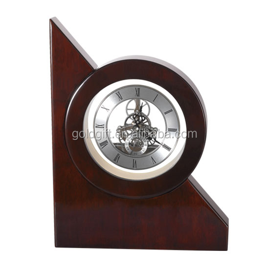 With Pendulum Wooden Vintage Table Clock