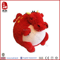 Yangzhou promotional plush toy animal plush round animal ball stuffed fire dragon toy