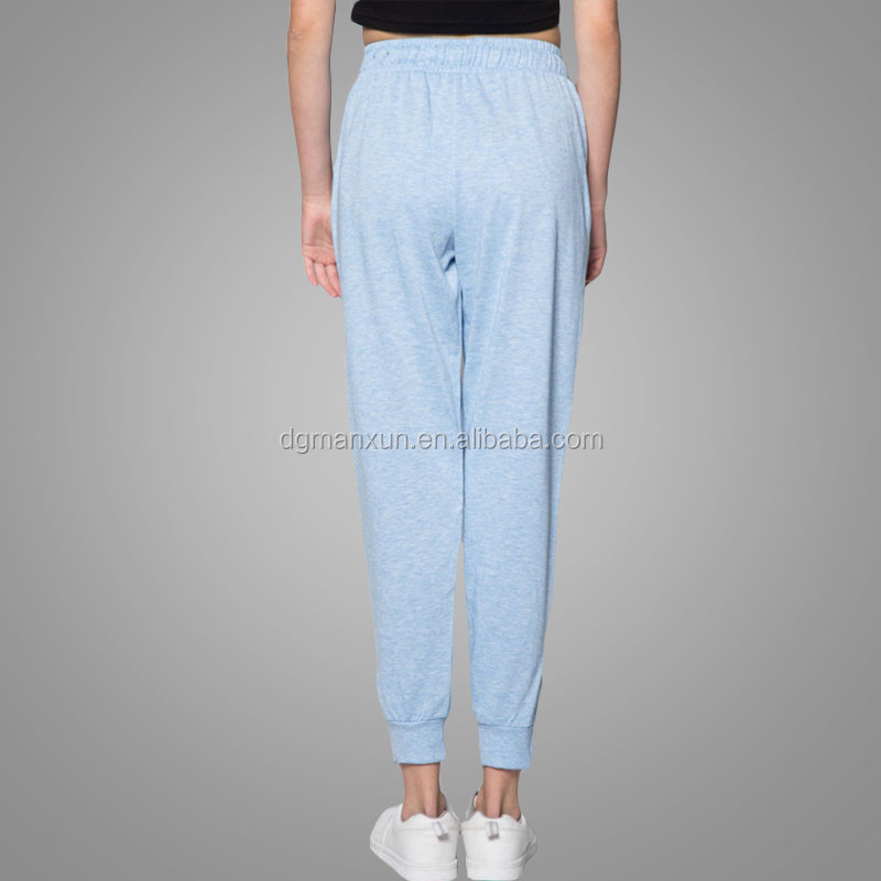 Chinese alibaba Custom jogger pants womens grey 100 cotton sweatpants