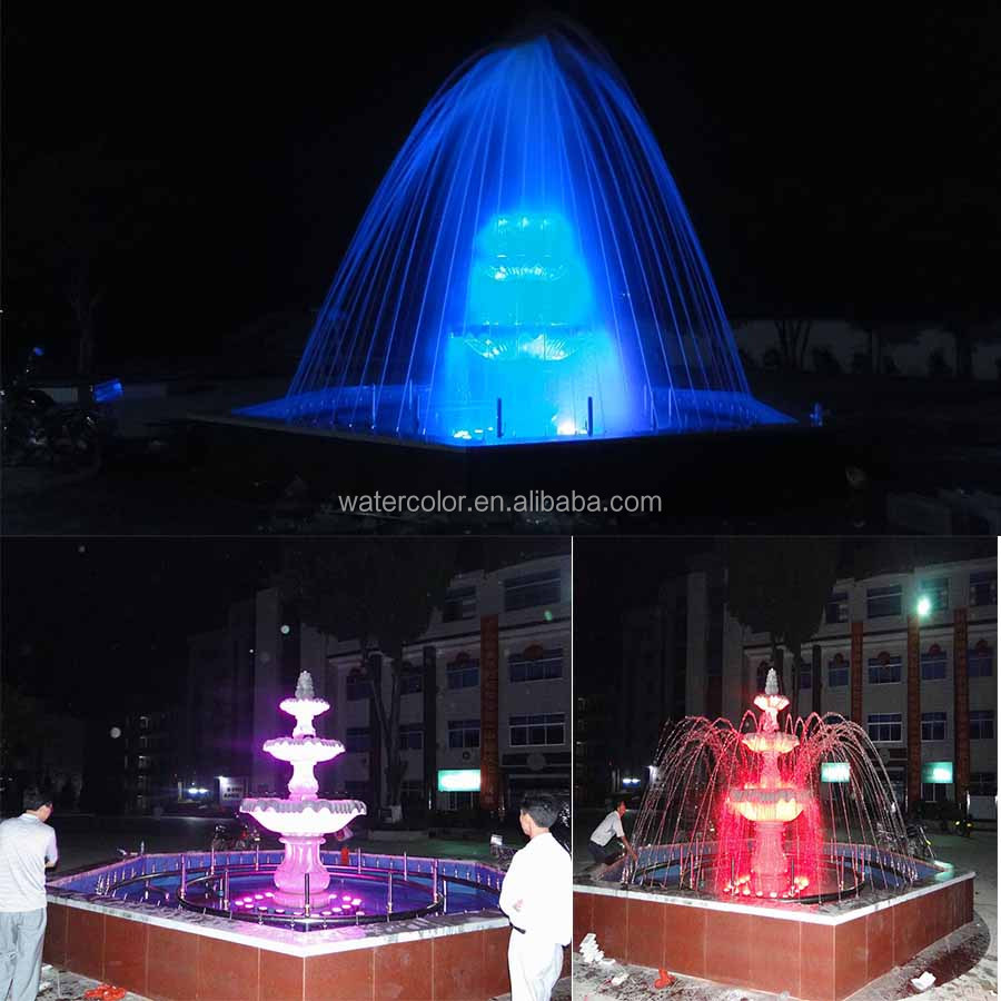 4 Tier Water Fountain With Colorful Lighting