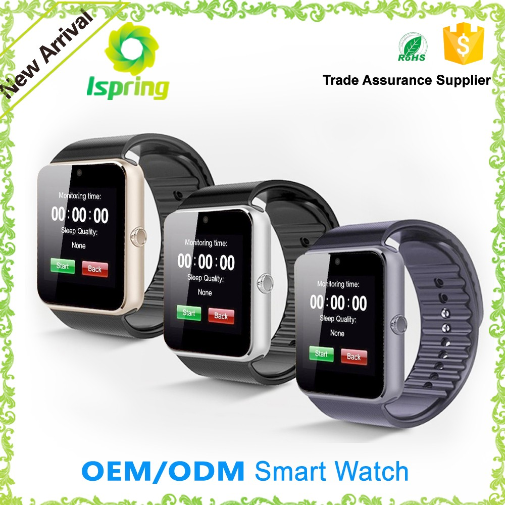 2016 hotseller android gt08 smart watch phone with factoryt price and high quality