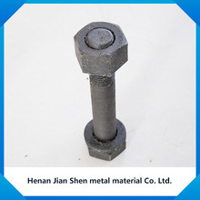 zinc plated finished railway hex bolts